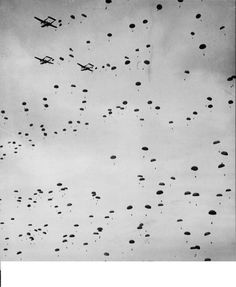 Pathfinders from the 101st landed in Normandy just after midnight on June 6th, 1944. Carried aboard 11 C-47 transport planes, these forces were to mark three drop zones for the division's three parachute infantry regiments.The three regiments of the 101st were dropped behind Utah Beach early in the morning of June 6th, roughly one hour after the pathfinders. 6,789 paratroopers were carried aboard 432 C-47's, of which 38 planes were lost.