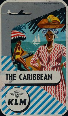 The Caribbean * KLM luggage label