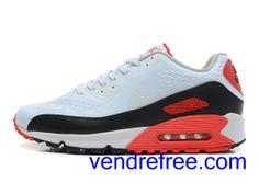 the latest 52208 f4615 Vendre Pas Cher Femme Chaussures Nike Air Max 90 (couleur rouge,noir,blanc)  en ligne en France.