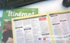 Journal d'annonces légales L'Itinérant