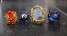 Ring Antracite | Gehaakte sieraden | Interieurstickers - Atelier Rosa Lyne