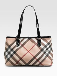 Burberry Check Tote - my absolute favorite bag that I own!