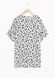 & Other Stories image 2 of Dotty Print Dress in White