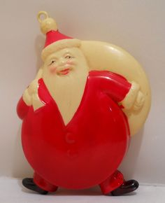 vintage Japanese celluloid Santa Claus #vintagechristmas #vintagechristmasdecorations #vintagechristmasideas