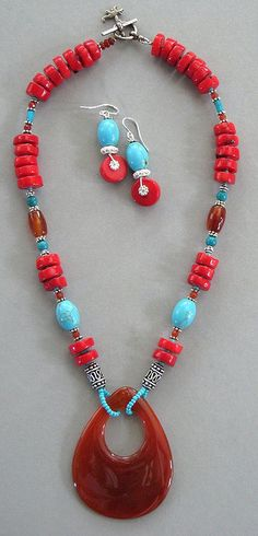 Coral Carnelian necklace