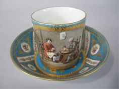 19TH CENTURY SEVRES CUP & SAUCER