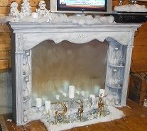 Faux Fireplace from Dresser Mirror