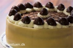 Skildpadde lagkage Danish Cake, Danish Food, Biscuit Recipe, Fondant Cakes, Party Cakes, Yummy Cakes, Cake Recipes, Caramel, Cheesecake