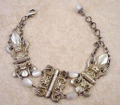 Bracelet made from vintage hinges