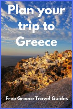 Plan your trip to Greece with these free Greece travel guides. Travel in Europe. Mykonos, Santorini, Europe Destinations, Europe Travel Guide, Travel Guides, Travel Plan, Travel Hacks, Naxos, By Train