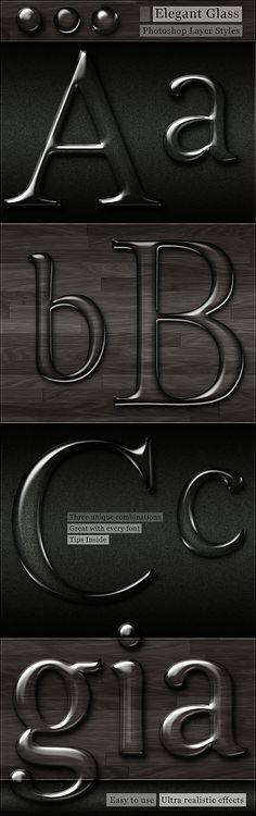 Free Glass Photoshop Styles by Giallo86.deviantart.com on @deviantART