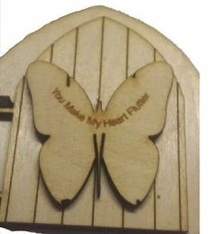 Fairy Door Collection : Wooden Opening Doors for Fairies Opening Fairy Doors, Elf Door, Pixie, Embellishments, Butterfly, 3d, How To Make, Ornaments, Decoration
