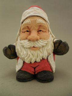 Santa Hugs wood carving LAST ONE by CarvingsbyTony on Etsy