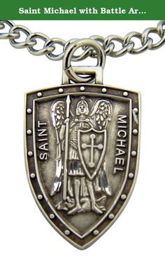 Saint Michael with Battle Armor 7/8 Inch Sterling Silver Medal. Made of the finest materials available. Manufactured by skilled American craftsmen producing the finest quality products.