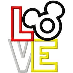Mickey ♥ embroidery, sillhouette, or scrapbooking title