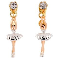 Les Néréides MINI PAS DE DEUX WITH SILVER BALLERINA EARRINGS (€69) ❤ liked on Polyvore featuring jewelry, earrings, jewelry earrings, silver, les nereides jewellery, les nereides jewelry, silver jewellery, earrings jewellery and earring jewelry