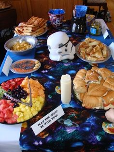 Food Table for Star WArs party