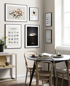Food lover gallery wall Collage Mural, Art Mural, Nordic Interior, Interior Styling, Personalised Posters, Floating Corner Shelves, Stylish Kitchen, Arte Popular, Inspirational Wall Art