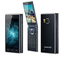 Original-VKworld-T2-Dual-Screens-Flip-Mobile-Phone-4-039-039-Android-5-1-8Core-1GB-8GB