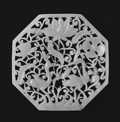 """ca century CE. The Metropolitan Museum of Art, New York. This work is exhibited in the """"A Passion for Jade. Chinese Culture, Chinese Art, Chinoiserie, Art Nouveau, Asian Art Museum, White Jade, China, Objet D'art, Ancient Artifacts"""