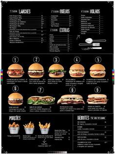 this we can have a menu.same item but different style.I just give example only.besides the chicke n wings Burger Menu, Burger Restaurant, Gourmet Burgers, Burger Recipes, Food Truck Menu, Food Menu Design, Pub Food, Good Food, Food And Drink