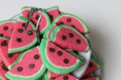 Watermelon Cookies https://www.youtube.com/watch?v=IXQRuy6TU0M&list=UUJ-bFMk_PhXfjsjr_gfWWXg