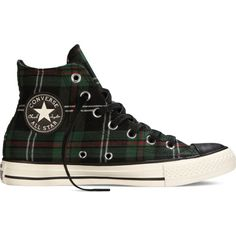 Converse Chuck Taylor All Star Tartan Plaid – green Sneakers ( 45) ❤ liked  on 906e2e4a4d