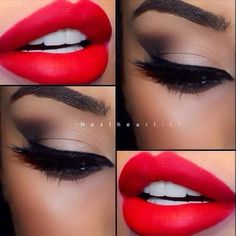Led Lipstick Makeup Tutorial http://thepageantplanet.com/category/hair-and-makeup/