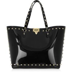Valentino Studded PVC tote (430) found on Polyvore