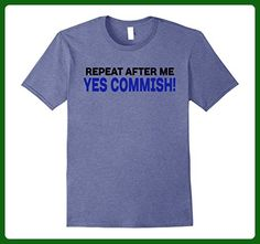 Mens Fantasy Football Repeat After Me Yes Commish T-shirt 2XL Heather Blue - Fantasy sci fi shirts (*Amazon Partner-Link)