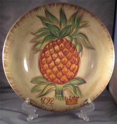 Tabletops Tropical Pineapple Dinner Plate