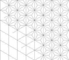 Asanoha hexagon granny square crochet pattern. Crochet by goolgool