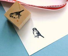 Finch  Rubber Stamp van norajane op Etsy, $4.00