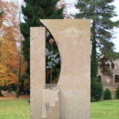 Romantischer Grabstein Bronze Rose - Valentino
