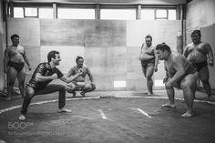 Daniel Ricciardo Fights Sumo Wrestler by jasonhalaykophoto