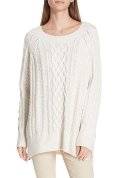 25c89b12251 Cable Stitch Tunic Sweater, Main, color, OFF WHITE Women's Fashion, Autumn  Fashion