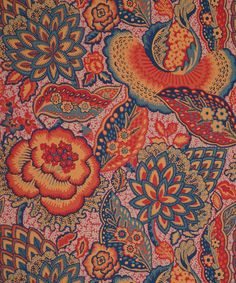 Liberty Furnishing Fabrics Patricia Anne Wallpaper in Spice