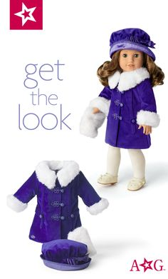 New ~American Girl Rebecca/'s  BeForever Meet Jacket Coat~ with Red Bag Samantha