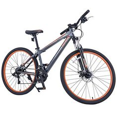 "GTM 27.5"" Shimano Hybrid 21 Speed Mountain Bike Bicycle Sports Grey & Orange - http://mountain-bike-review.net/products-recommended-accessories/gtm-27-5-shimano-hybrid-21-speed-mountain-bike-bicycle-sports-grey-orange/ #mountainbike #mountain biking"