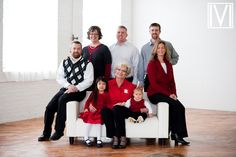 large indoor family photos