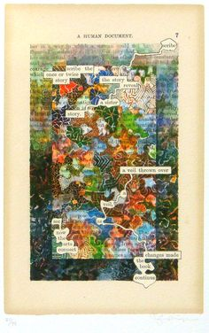 Scribe the Story amazing altered pages by Tom Phillips at A Humument