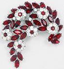 Ruby Earrings Trifari Red Rhinestone Brooch & Earrings - wedding inspiration jewelry for bride and bridesmaids Ruby Earrings, Ruby Jewelry, Turquoise Jewelry, Gold Jewelry, Teen Jewelry, Leather Jewelry, Rhinestone Jewelry, Vintage Rhinestone, Antique Jewelry