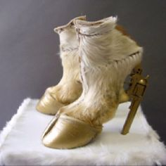 Might go with your jackalope - because every hare with antlers needs a pair of goat-revolver stilettos.