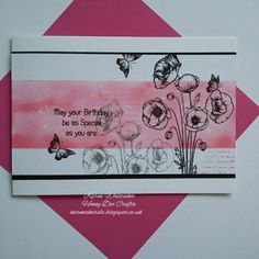 Poppies by Honey Doo Crafts  #honeydoocrafts #dtsample #poppies #flowers #distressoxides #stamps #stamping #card #creative