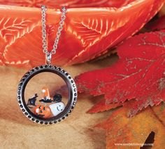 Jazz up your Halloween costume with this spooky South Hill Designs locket! Locket Charms, Lockets, South Hill Designs, Floating Charms, Holiday Themes, Custom Jewelry, Happy Halloween, Personalized Gifts, Swarovski Crystals