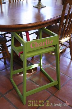 $10 Personalized restaurant style highchair from Ana White plans