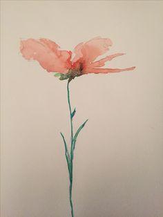 """""""Papavero"""" watercolor by Dani"""
