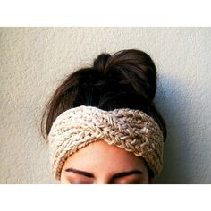Turban Ear Warmer Headband, Boho Knit Headband, Turban Headband Ear... ($25) ❤ liked on Polyvore featuring accessories, hair accessories, hair band headband, knit turban, head wrap turban, knit headwrap et hair bands accessories