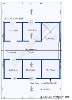 Barn Plans 8 Stall Horse Barn Design Floor Plan