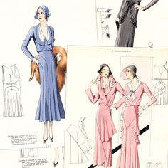 Summer 1931 Croquis Original 41 haute couture by glassoffashion